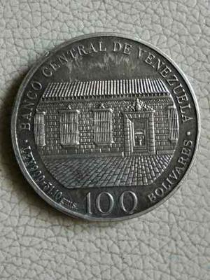 Moneda 100 De Plata Conmemorativa- Bicentenario De Bolivar