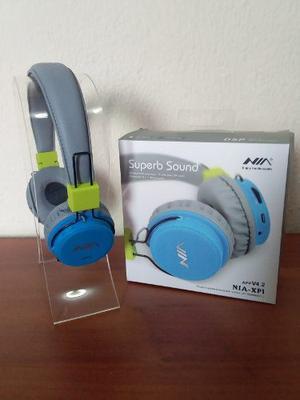 Audífonos Nia Inalambrico Bluetooth, Radio, Micro Sd