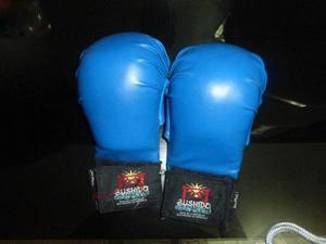 Guantines Azules Usados Para Karate