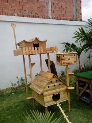 Casa Para Gatos Y Parque Para Gatos