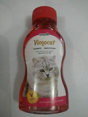 Champu Vimodog Cosmetico E Insecticida Para Gatos 240 Ml