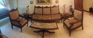 Juego De Recibo Muebles Mesa Centro Lujo Oferta Oportunidad