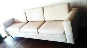 Mueble Sofa Bipiel 3 Puestos Nuevo