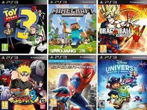 Pack De 6 Juegos Digitales Para Niños Ps3
