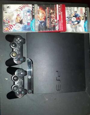 Playstation 3 Slim De 160gb + 2 Controles Y 3 Juego (remate)