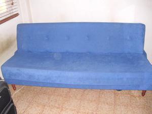 Sofa Cama De 3 Puestos En Tela Excelente Estado