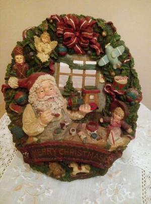 Adorno Navideño En Relieve De Pared Navidad