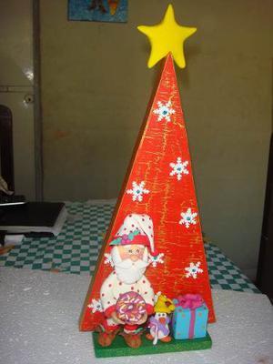 Arbol De Navidad En Masa Flexible Y Mdf, Adornos