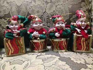 Arlequines Duendes De Navidad. 15 Cm De Altura