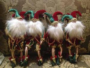 Arlequines Duendes De Navidad 24 Cm De Altura