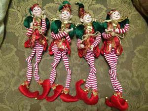 Arlequines Duendes De Navidad 45 Cm De Altura