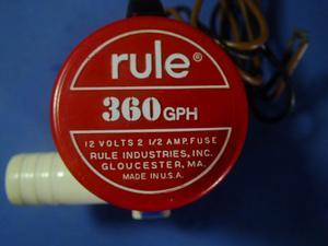Bomba De Achique Rule 360 Gph. Nueva Con Accesorios