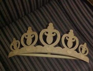 Corona Para Mosquitero O Decoración De 70cm En Mdf Crudo