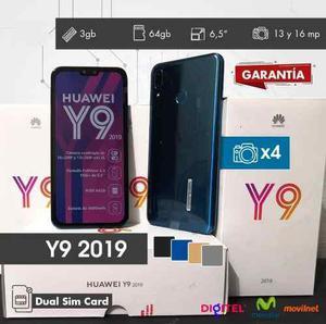 Huawei Y9 2019 Nuevos De Paquete + 3 Meses De Garantia!!!