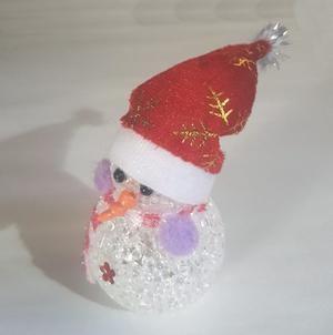 Muñeco De Nieve Con Luz Led Navidad 17cm Acrílico Myp
