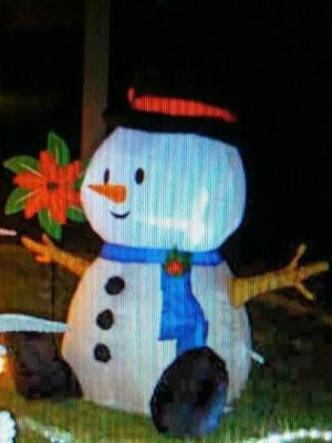 Muñeco Inflable Navideño Muñeco Nieve Navidad.oferta!.