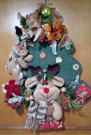 Muñecos De Navidad En Tela Varios Modelos