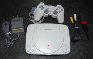 Play Station 1 One Sony Con Cables Y 2 Controles + Juegos
