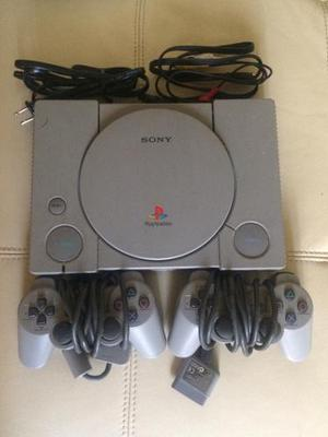 Playstation 1 Ps1/psx Scph-550x Con 2 Controles