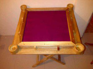 Venta de Mesas de Domino Hechas en Madera Teka con Color de