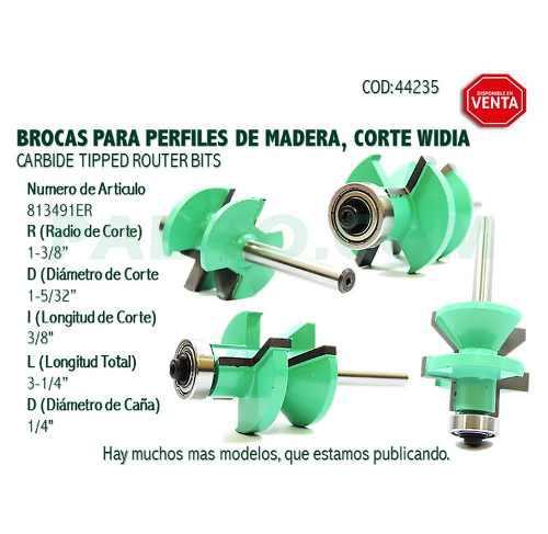 Broca, Fresa, Punta Para Trompo (router) De Carpinteria