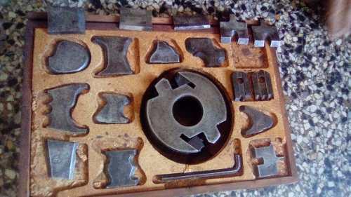 Juego De Fresas Trompo De Carpinteria Industrial Eje 35 Mm