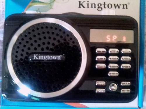 Radio Recargable Reproductor Mp3 Usb Micro Sd Kingtown