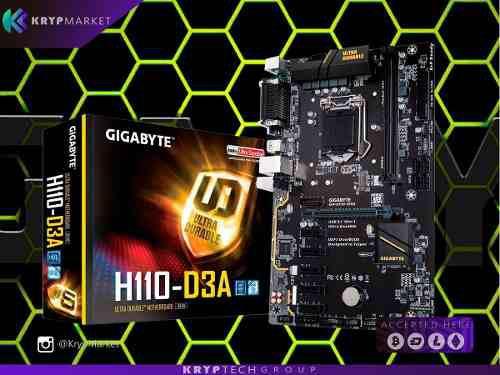 Tarjeta Madre Gigabyte H110-d3a Socket 1151 Ethereum Gaming