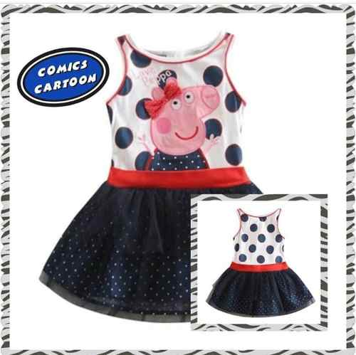 Vestido Peppa Pig Importado Excelente Calidad Talla 4 Y 5