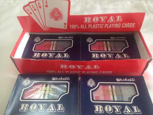 Barajas Cartas De Póker 100% Plásticas Royal