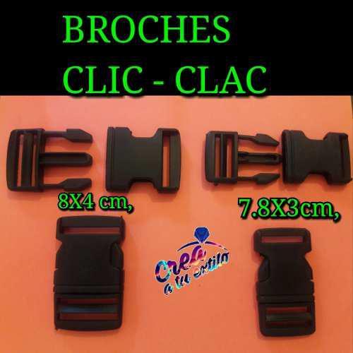 Broches Clic Clac Grande Por Unidad Para Pulseras Y Bolsos
