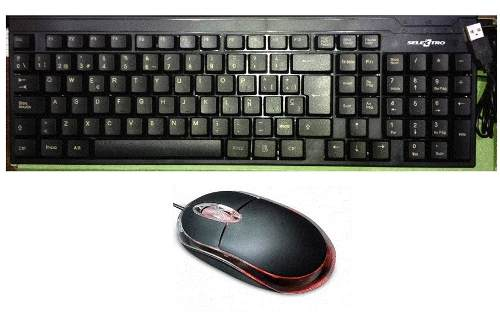 Combo Teclado Y Mouse Usb Negro Optico Computadora Laptop At
