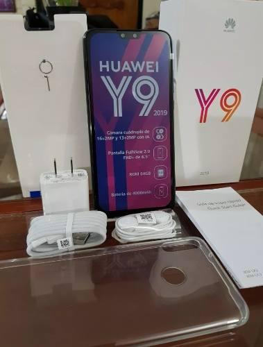 Huawei Y9 2019 64gb Lte Con Digitel + Estuche + Protector