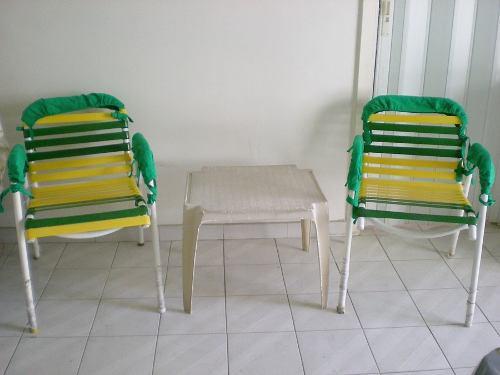 Juego De 2 Sillas Plásticos Jardín O Terraza, Regalo La
