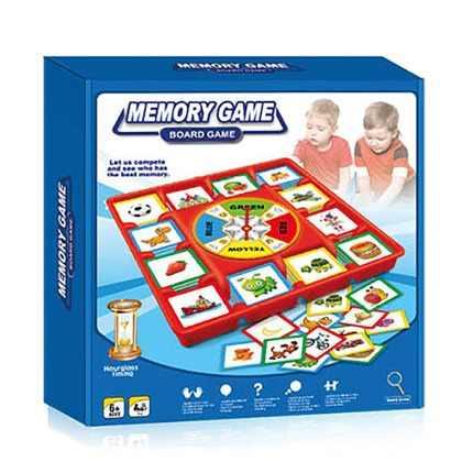 Juego De Memoria Con Tablero Y Reloj De Arena.