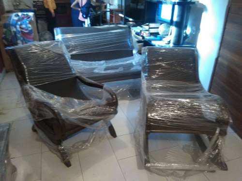 Muebles De Cuero Con Madera