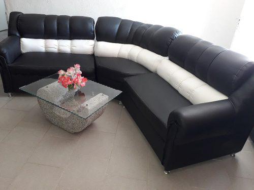 Muebles Modulares Semicuero Nuevos Con Cromados Lujo