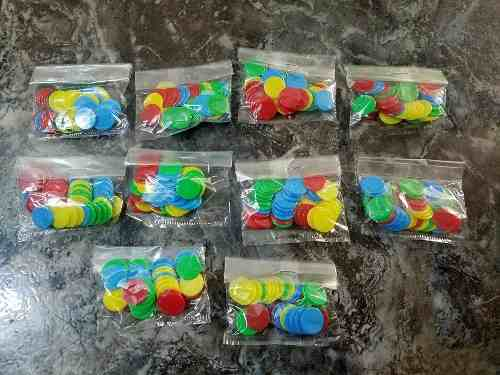 Paquete De 40 Fichas De Colores Para Juegos De Mesa