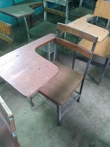 Pupitres Escolares De Madera