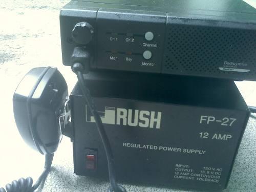 Radio Fijo Motorola M130 Con Su Micro Y Fuente De Poder