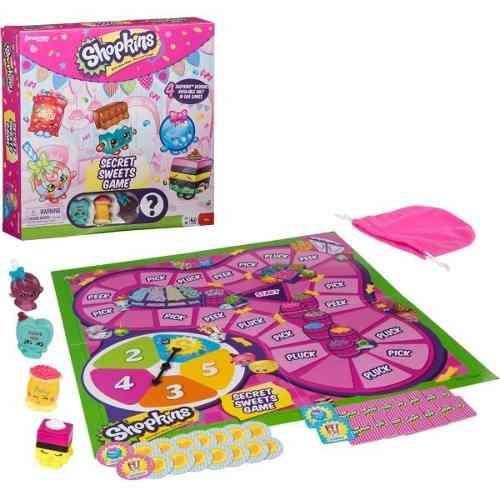 Shopkins Secret Sweet Game Juego De Mesa Set 4 Shokins