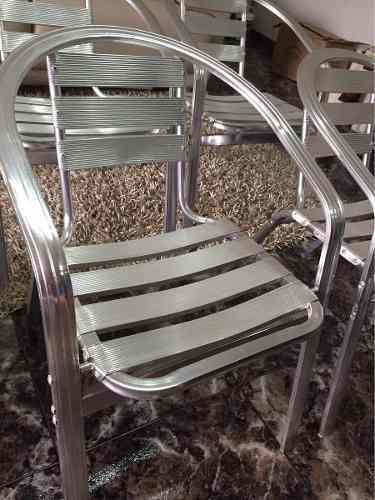 Silla De Aluminio Modelo Hilton Cafetería Jardín Como