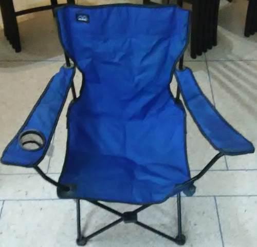 Silla Plegable De Lona Azul