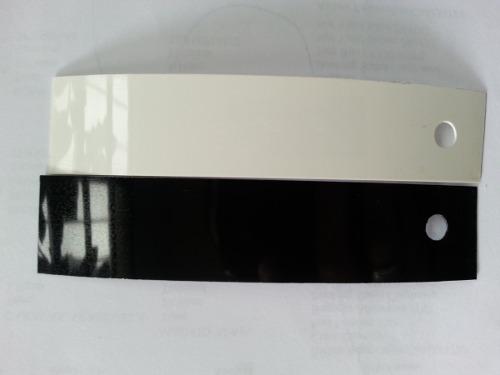 Tapa Canto De Pvc 22mmx0.40mm Blanco Y Negro Brillante