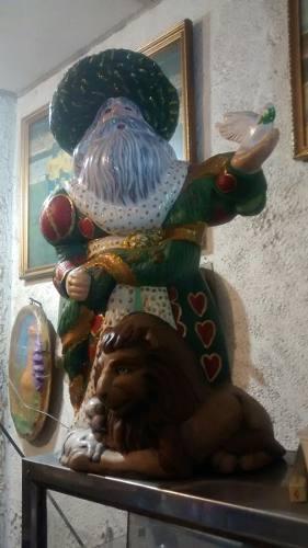 Adorno Navidad Ceramica San Nicolas Espiritu De La Navidad