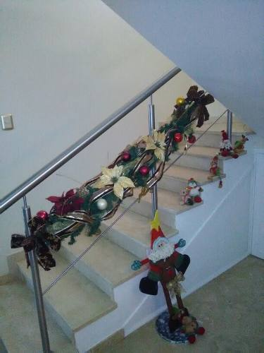 Adorno Navideño Para Escalera, Ventanas (garlas)