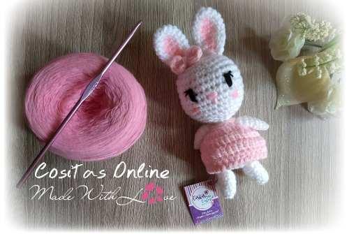 Amigurumi Conejita 10cm Tejidos A Crochet
