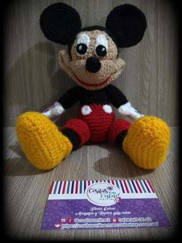 Amigurumi Mickey Mouse 28cm Tejido A Crochet