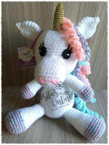 Amigurumi Unicornio 23 Y 28cm Tejidos A Crochet