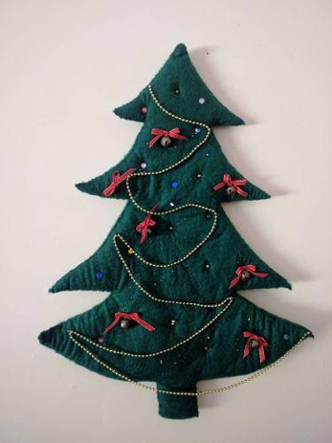 Arbolito De Navidad En Fieltro 10,5t